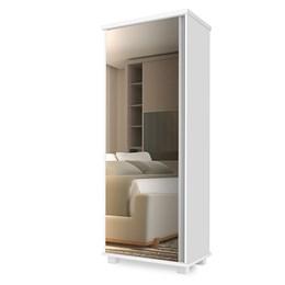 Armário Multiuso Londres com Espelho Branco - Móveis Luapa