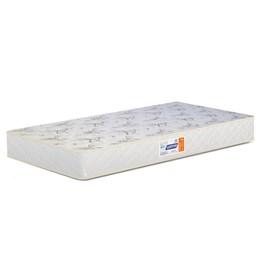 Berço Americano Theo Branco Fosco/Mezzo Pés Madeira Natural com Colchão D18 de 10cm - Reller Móveis