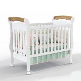 Berço Mini Cama Bambini - Branco Soft/Teka - Matic Móveis