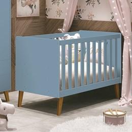 Berço Retrô Aline Azul Fosco - PR Baby
