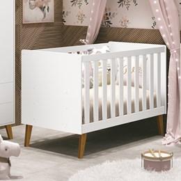 Berço Retrô Aline Branco Fosco - PR Baby