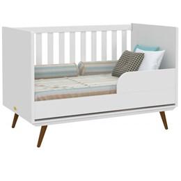 Berço Retro - Branco Soft/Eco Wood - PR Baby