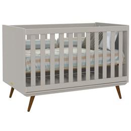 Berço Retro - Cinza/Eco Wood - PR Baby