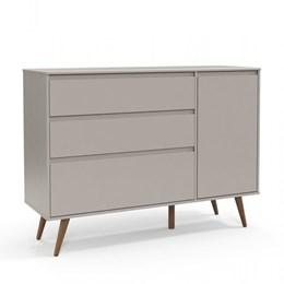 Cômoda Infantil Retrô Clean com Porta Cinza/Eco Wood - Matic Móveis
