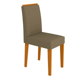Conjunto 2 Cadeiras Amanda Ipê/Marrom Rose - New Ceval