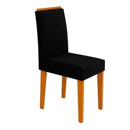 Conjunto 2 Cadeiras Amanda Ipê/Preto - New Ceval