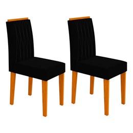 Conjunto 2 Cadeiras Ana Ipê/Preto - New Ceval