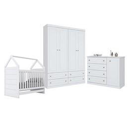 Conjunto Infantil Pérola Branco HP - Móveis Henn