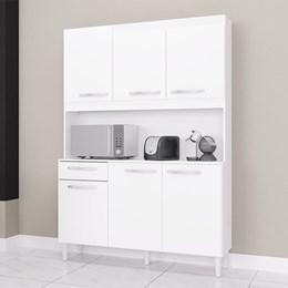 Cozinha Compacta Carine 6 Portas 1 Gaveta Branco - Poquema