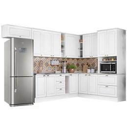 Cozinha Completa Americana 10 Peças Branco HP - Móveis Henn
