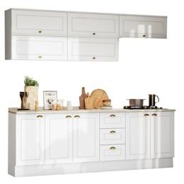 Cozinha Completa Americana 11 Peças Branco HP - Móveis Henn