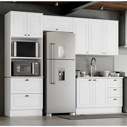 Cozinha Completa Americana 4 Peças Branco HP - Móveis Henn