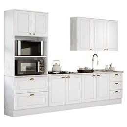Cozinha Completa Americana 4 Peças sem Vidro Branco HP - Móveis Henn
