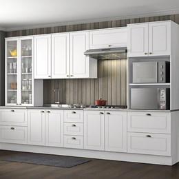 Cozinha Completa Americana 6 Peças Branco HP - Móveis Henn