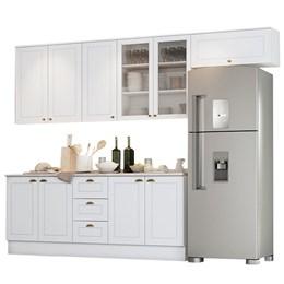 Cozinha Completa Americana 7 Peças Branco HP - Móveis Henn