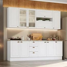 Cozinha Completa Americana 9 Peças Branco HP - Móveis Henn