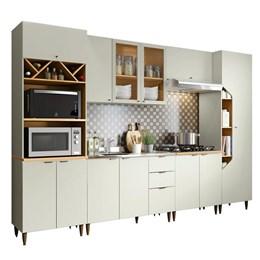 Cozinha Completa Essência 7 Peças Areia/Nature - Móveis Henn