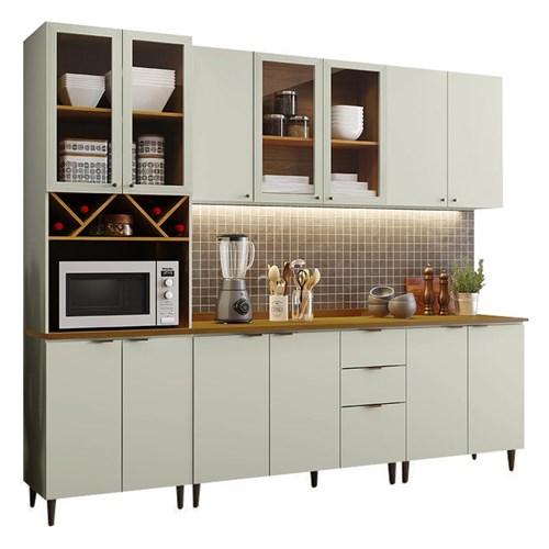 Cozinha Completa Essência 7 Peças com Torre Quente Areia/Nature - Móveis Henn