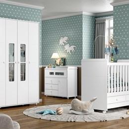Dormitório Aquarela - Branco - Móveis Henn