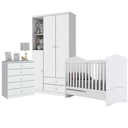 Dormitório Bala de Menta Branco - Móveis Henn