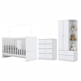 Dormitório Completo Infantil Labirinto Branco - Móveis Henn