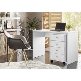 Escrivaninha com Gaveteiro Office Land Branco - PR Móveis