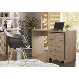 Escrivaninha com Gaveteiro Office Land Nogal - PR Móveis