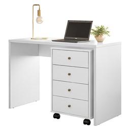 Escrivaninha com Gaveteiro Office Presence Branco - Demóbile