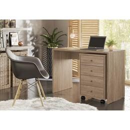 Escrivaninha com Gaveteiro Office Presence Nogal Touch  - Demóbile