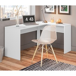 Escrivaninha de Canto Office Presence Branco - Demóbile