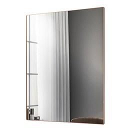 Espelho Decorativo Retangular Aurora com Moldura 19mm Cobre Rosê - PR Móveis