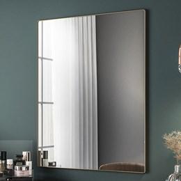 Espelho Decorativo Retangular Aurora com Moldura 19mm Dourado - PR Móveis