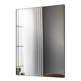 Espelho Decorativo Retangular Aurora com Moldura 19mm Preto - PR Móveis