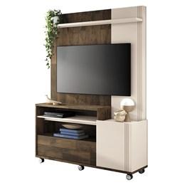 """Estante Home Theater Clean para TV de até 50"""" Deck/Off White - PR Móveis"""