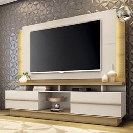 """Estante Home Theater Premium para TV de até 70"""" Freijó/Off White - PR Móveis"""