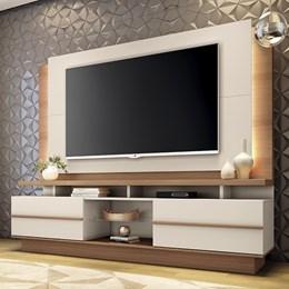 """Estante Home Theater Premium para TV de até 70"""" Nature/Off White - PR Móveis"""