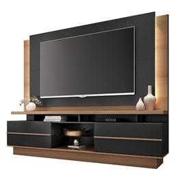 """Estante Home Theater Premium para TV de até 70"""" Nature/Preto - PR Móveis"""