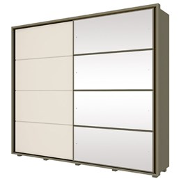Guarda-Roupa Cavic 02 Portas Deslizantes com Espelho Duna/Off White - Móveis Henn