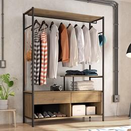 Guarda Roupa Closet 01 Office Industrial Preto/Demolição - PR Móveis