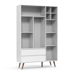Guarda Roupa Infantil Retrô Clean Branco Soft/Eco Wood - Matic Móveis