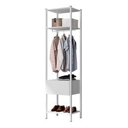 Guarda Roupa Modular Closet 540A Oxford Branco - Artefamol