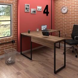 Kit 2 Mesas de Escritório em L 150x120 Office Industrial Nogal Sevilha - PR Móveis