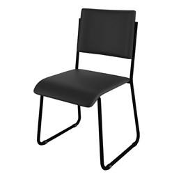 Kit 3 Cadeiras Mundi Preto - Móveis Belo