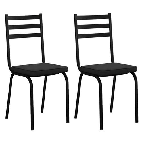 Kit com 2 Cadeiras Malva 118 Preto - Artefamol