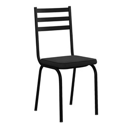 Kit com 6 Cadeiras Malva 118 Preto - Artefamol