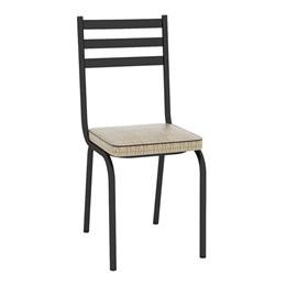 Kit com 8 Cadeiras Malva 118 Preto/Rattan - Artefamol