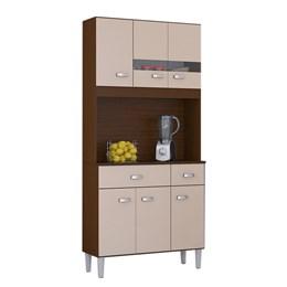 Kit Cozinha Compacta Manu 6 Portas Capuccino/Off White - Poquema