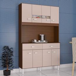 Kit Cozinha Compacta Manu 8 Portas Capuccino/Off White - Poquema