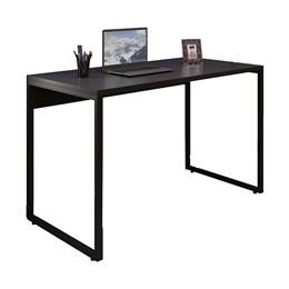 Kit Mesa 120, Aparador 120 e Estante Office Industrial Preto com Cadeira Studio Ind - PR Móveis