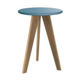 Mesa de Canto Prince Azul Fosco com Pés Mezzo - Reller Móveis